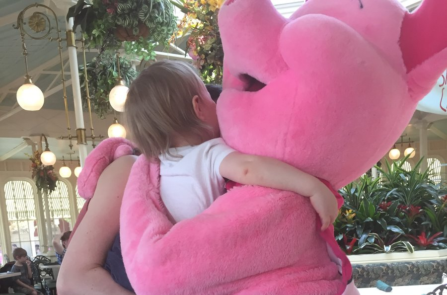 "Giving Piglet ""big hugs!"""
