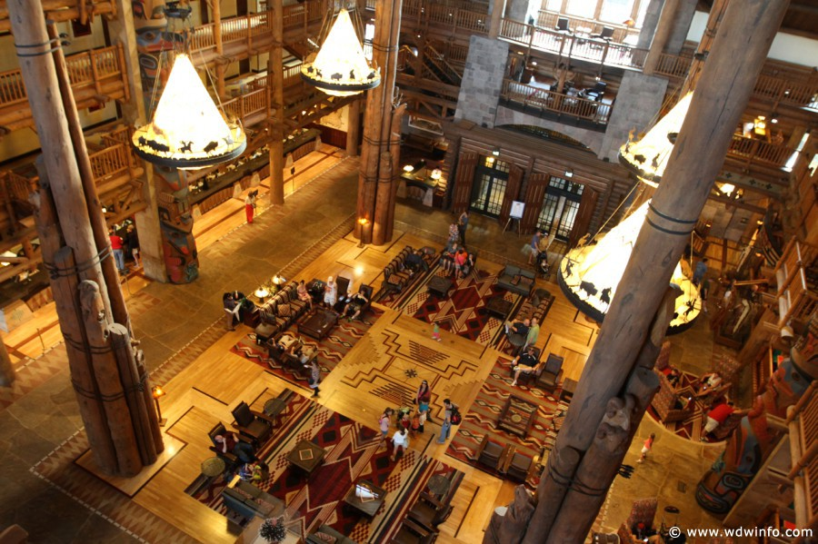 The lobby of Wilderness Lodge is truly breathtaking. Photo: The Dis/WDWinfo