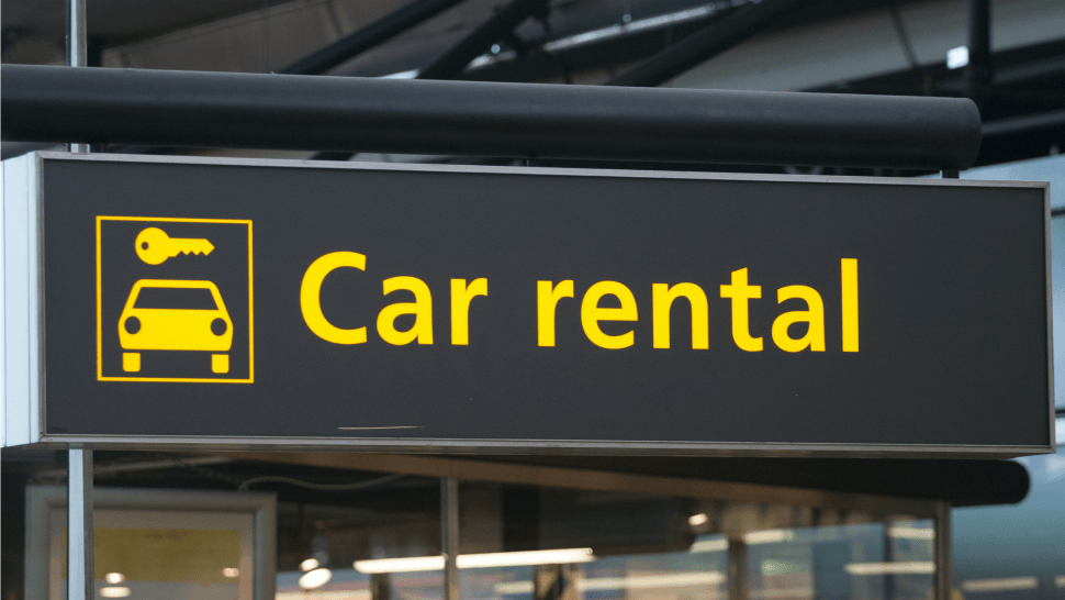 car-rental-sign