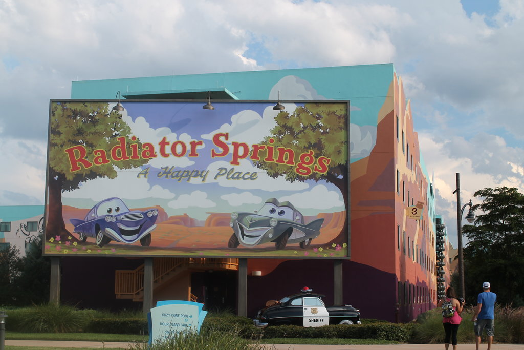 Art of Animation resort at Walt Disney World is perfect for Radiator Springs photo ops. Photo: Lisa Rufle