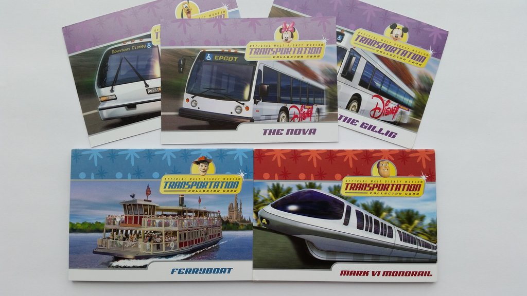 Disney Transportation Cards are a fun and free souvenir to collect on your next WDW vacation. Photo: WDWinfo