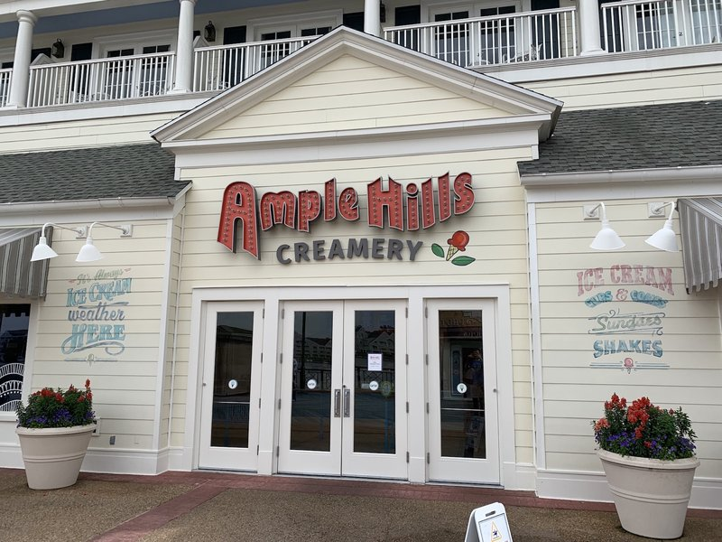 Visit the Boardwalk area and grab some ice cream at Ample Hills Creamery! Photo: The Dis