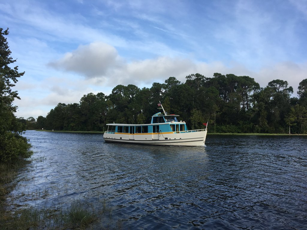 Using the boat is a nice way to get around while still keeping the relaxing vibe of Disney's Wilderness Lodge. Photo: Lisa Rufle