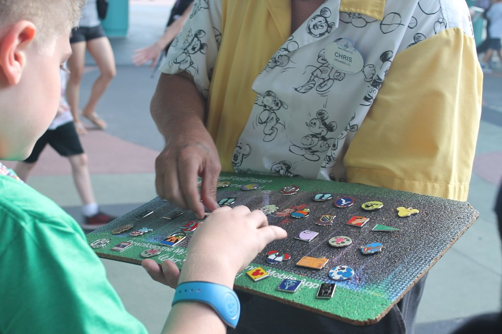Trading pins can be fun, but also costly! Photo: Lisa Rufle