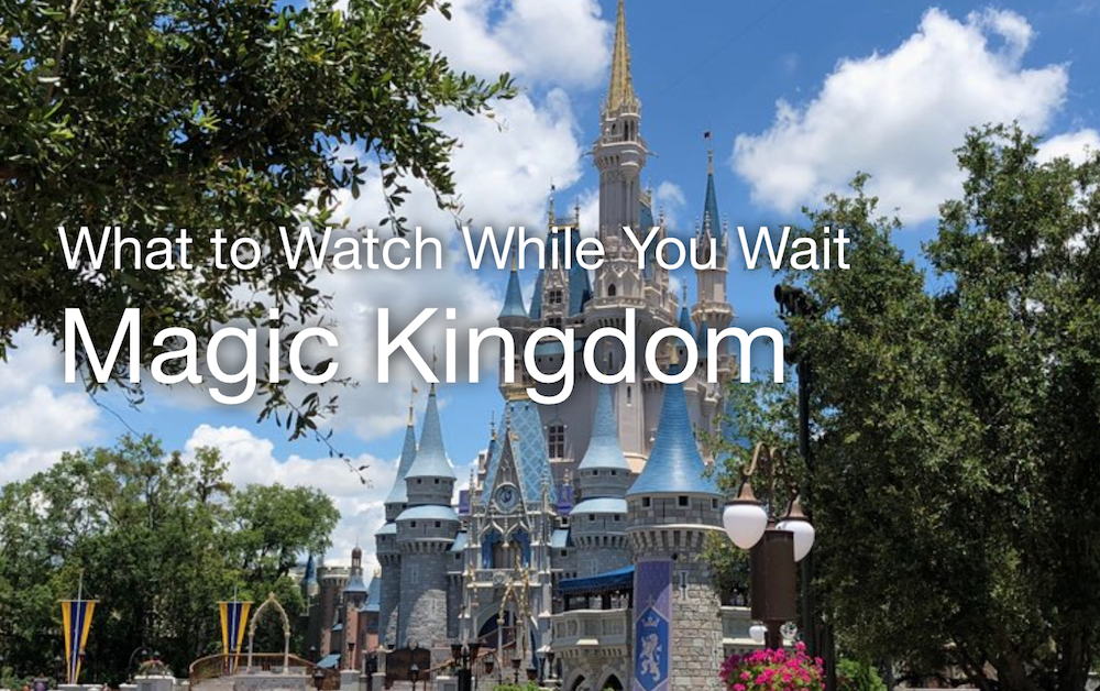 What to watch while you wait magic kingdom