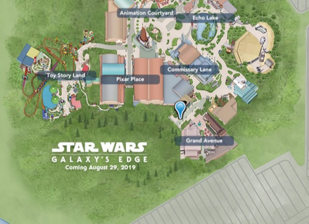 Star Wars Galaxy's Edge - Star Wars Land at Walt Disney World Disney Hollywood Studios Map on