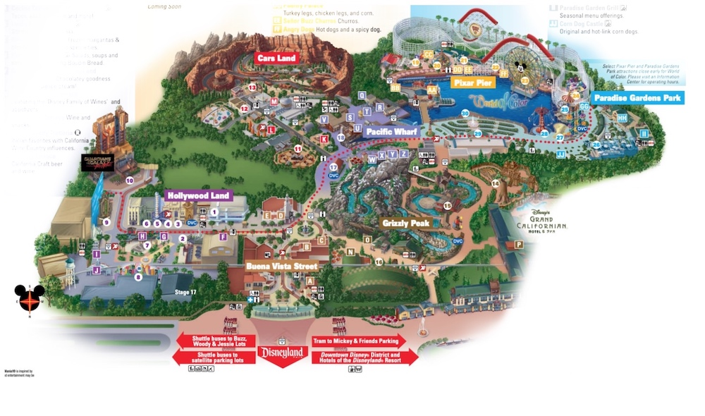 California Adventure Map 2019