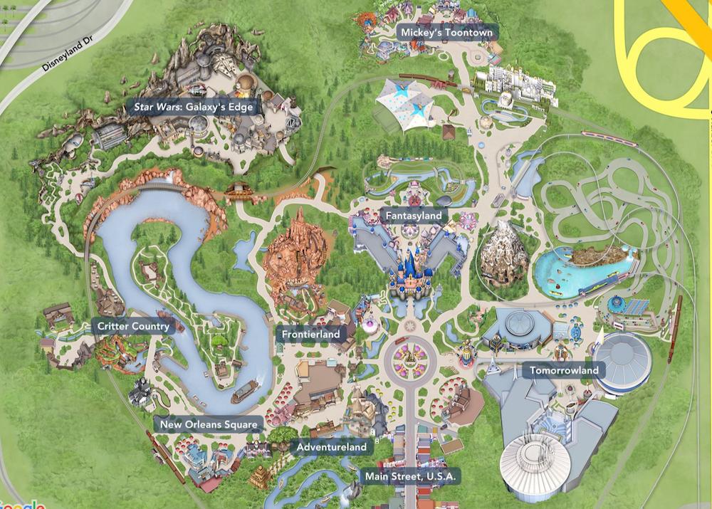 Disneyland 2019 Map