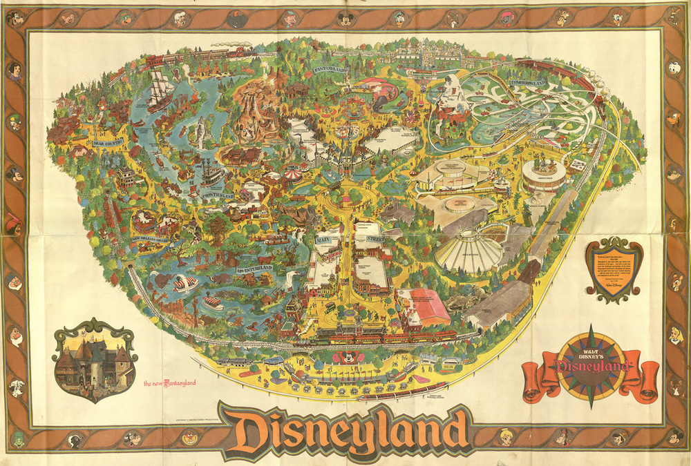 Disneyland Park Map early 90