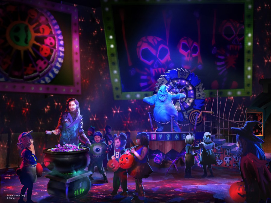 Immersive Treat Trails during Oogie Boogie Bash at Disney California Adventure Park