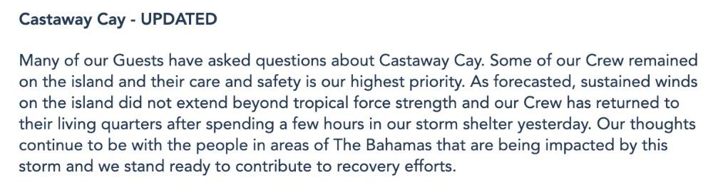 dcl-castaway-update
