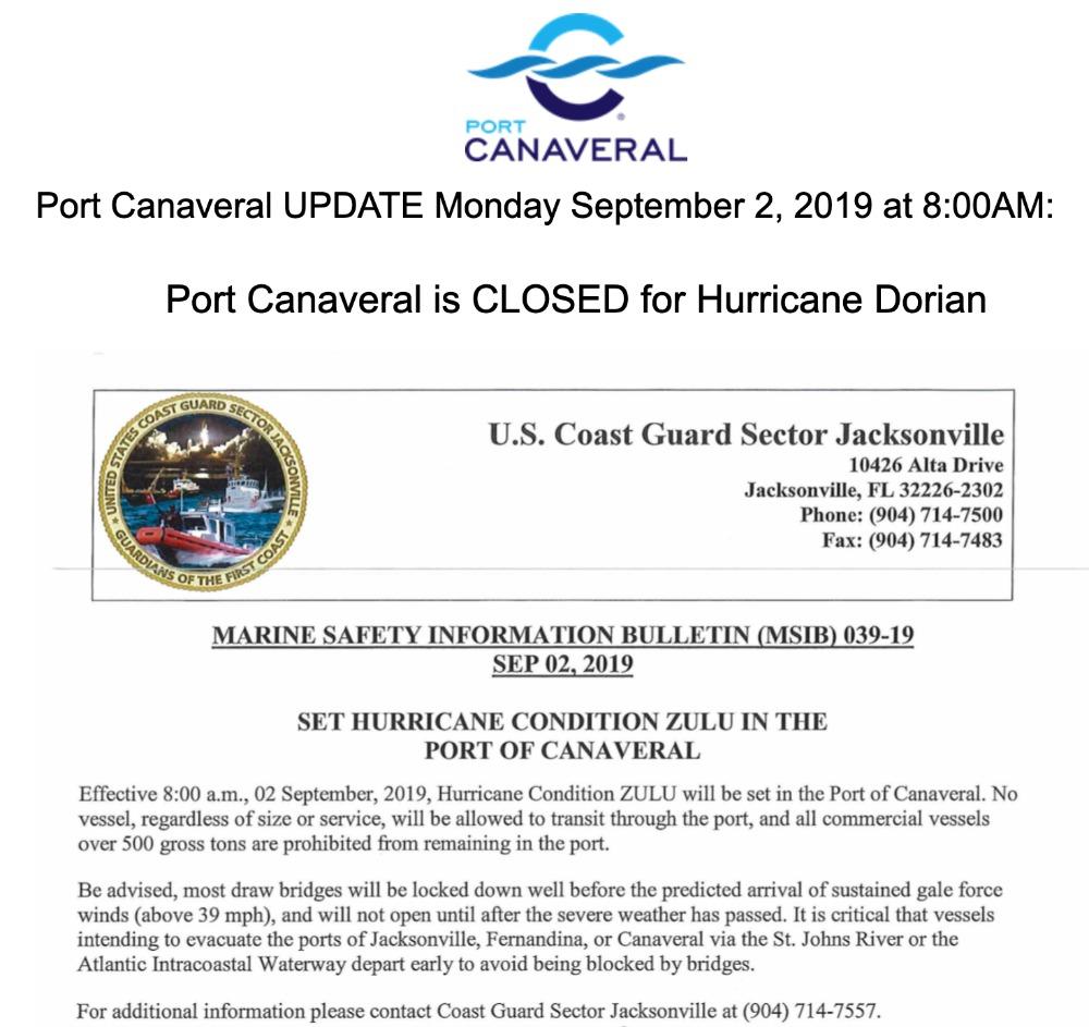 port-canaveral-closure-update