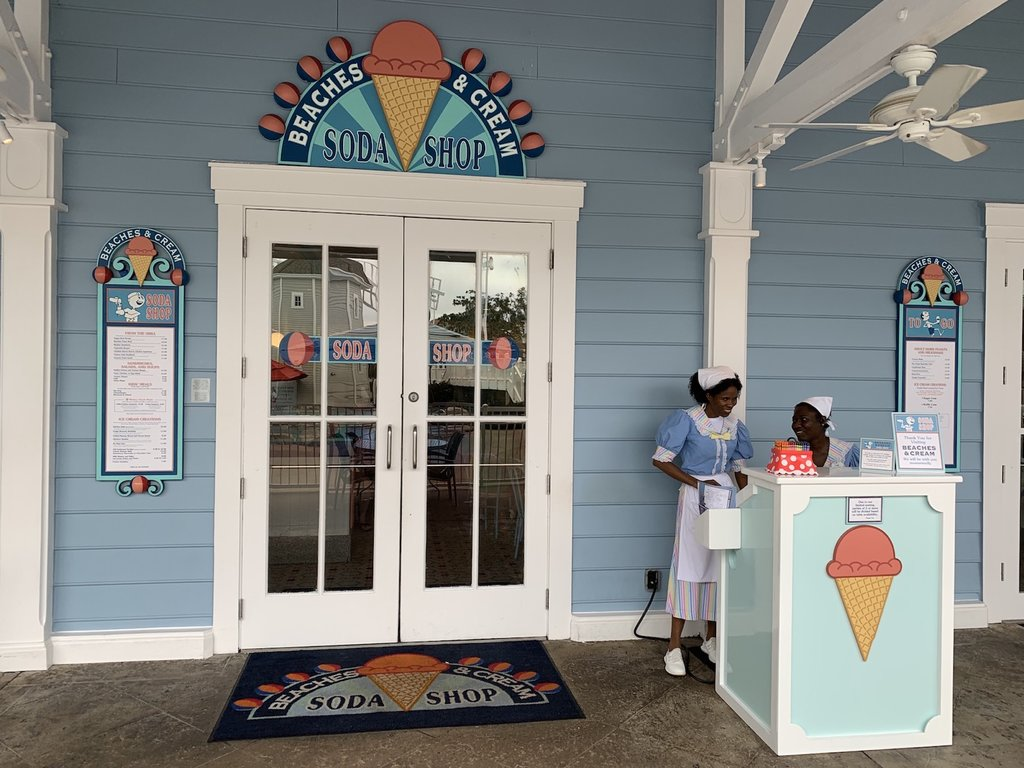Beaches and Cream is a fun place to grab good food and ice cream while staying at Disney's Yacht Club resort. It's small so be sure to snag an advanced dining reservation! Photo: The Dis
