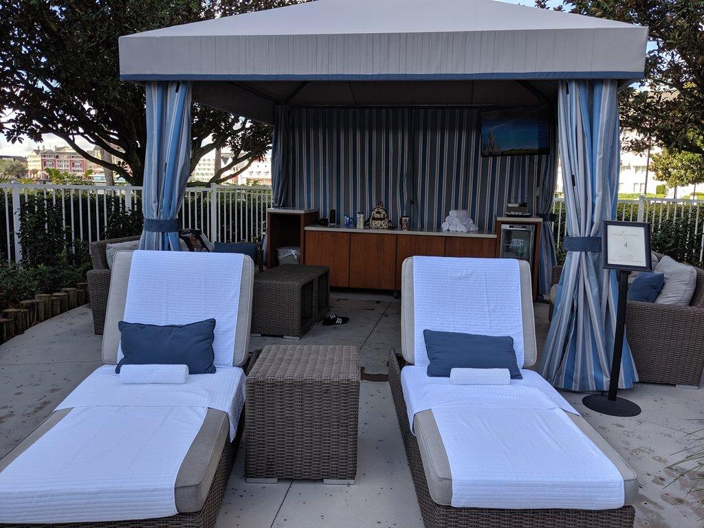Disney's Beach and Yacht Club cabana rental. Photo: Lisa Rufle