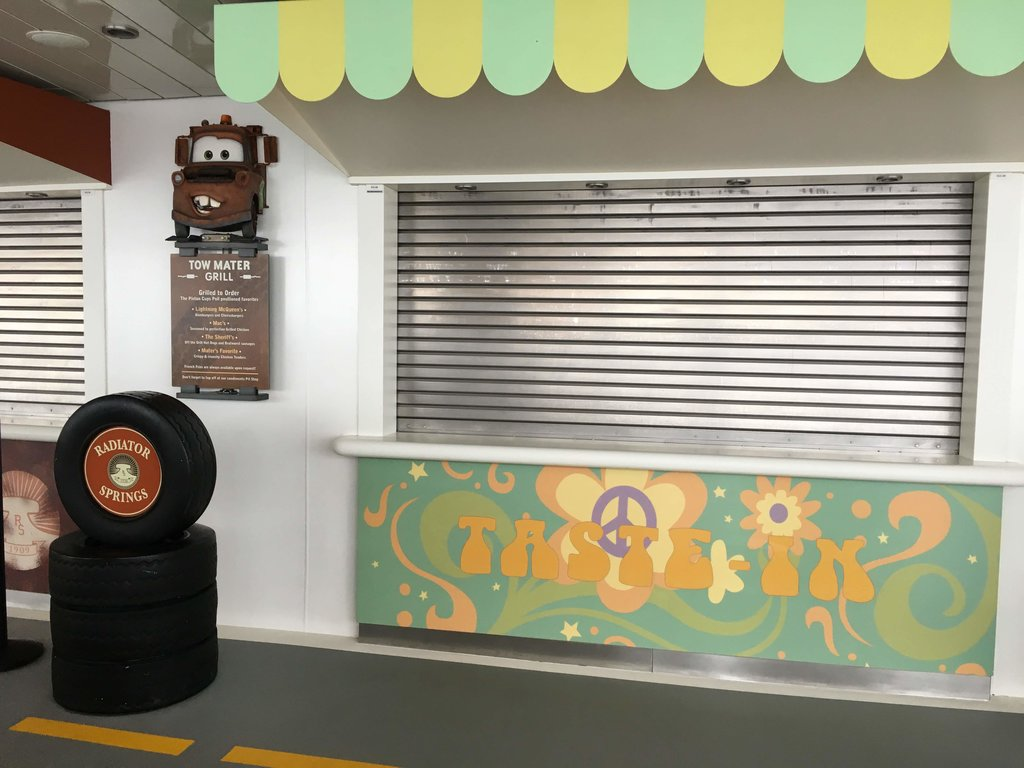 Tow Mater Grill on the Disney Dream