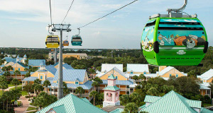 Disney Shares First Look of Guests Riding Disney Skyliner