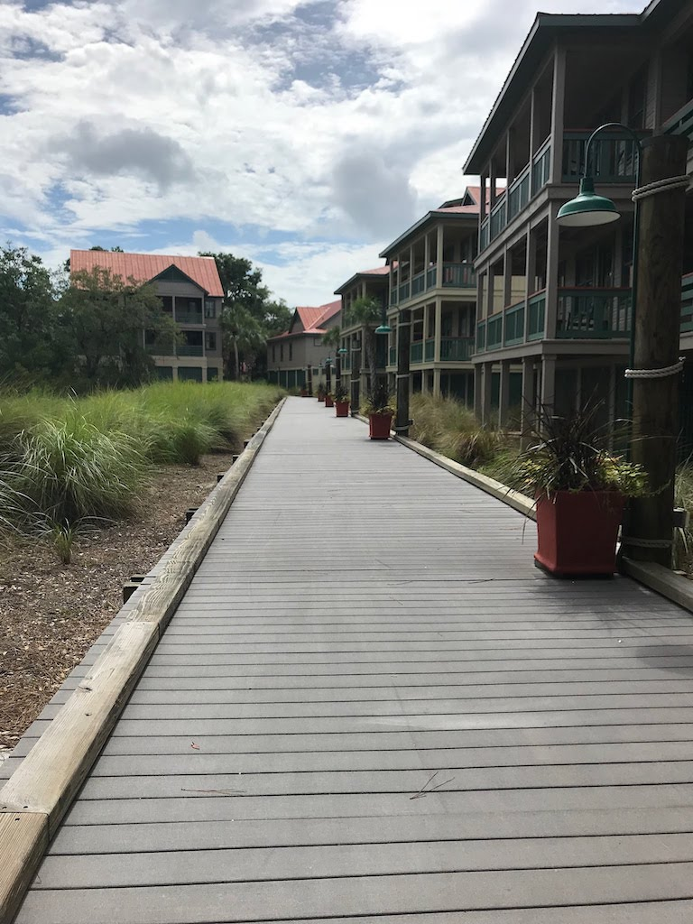The resort is surrounded by a marsh and there are nice boardwalks to walk around on.