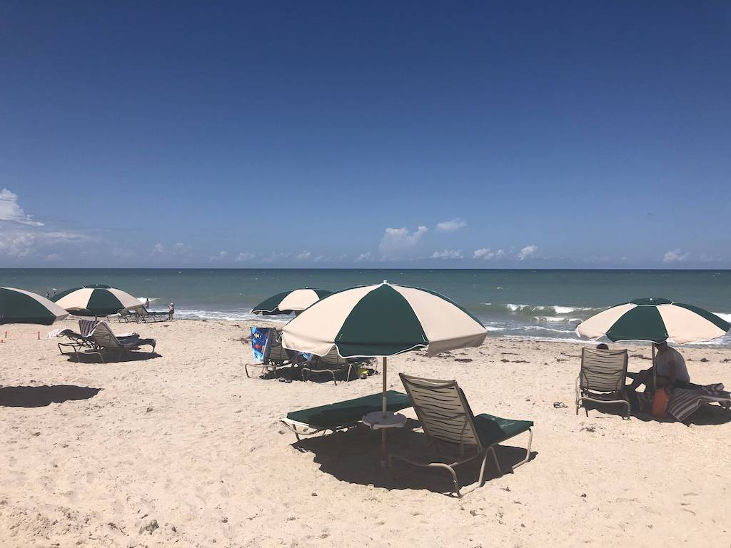 The beach at Disney's Vero Beach Resort is quiet and relaxing.