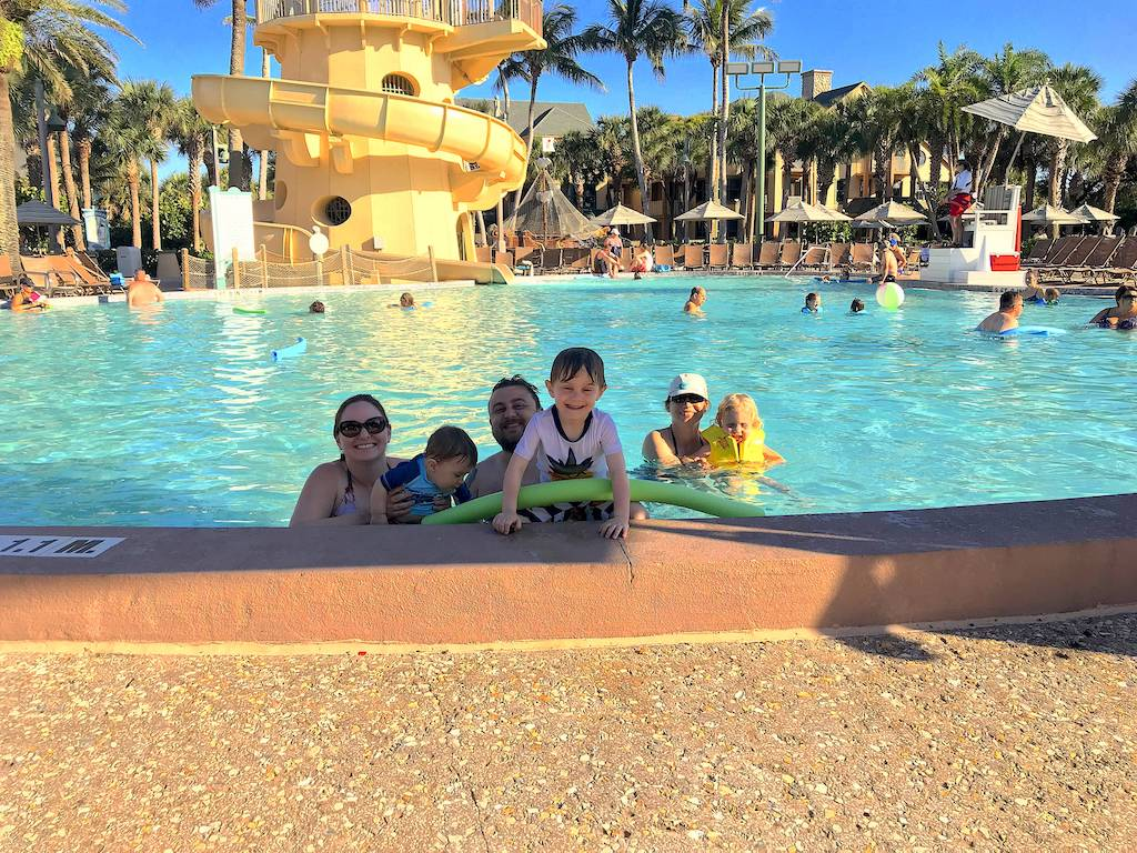 Disney's Vero Beach pool area is lots of fun for the whole family.