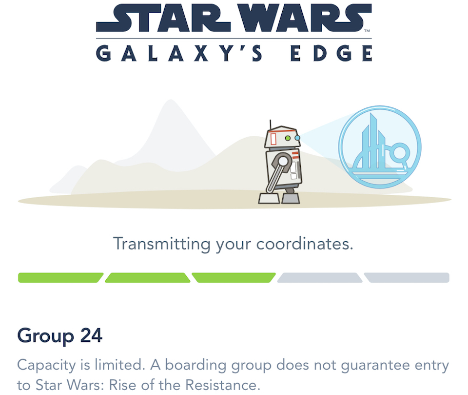 Rise of the Resistance Boarding Group Notice