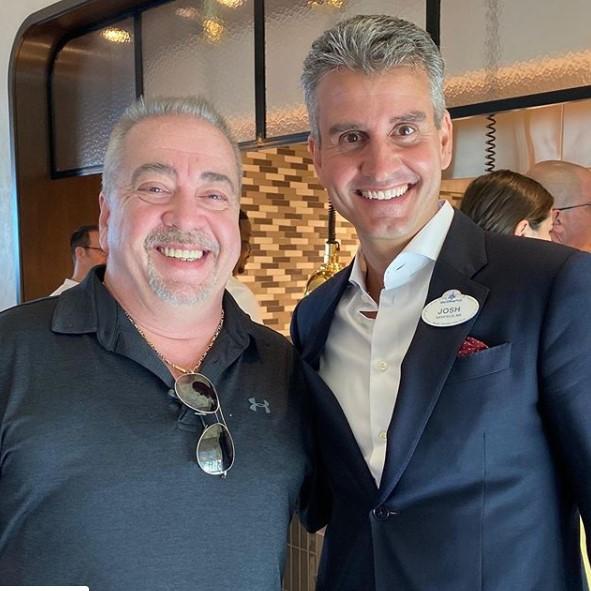 Pete with Josh D'Amaro