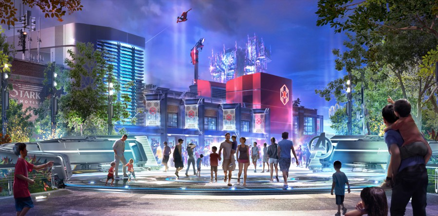***PLEASE NOTE*** THIS IMAGE CAME FROM - CONTACT: DISNEY  --- NYT AGGREGATORS OK ---  ---     Rendering of the new Marvel theme park . ** CHECK CAPTION ACCURACY BEFORE PUBLISHING **    ---                NYTCREDIT: Marvel