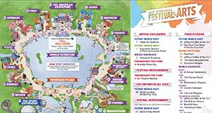 2020 Epcot Festival of the Arts Map