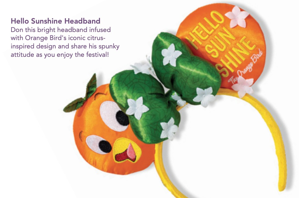 Orange Bird Ear Headband