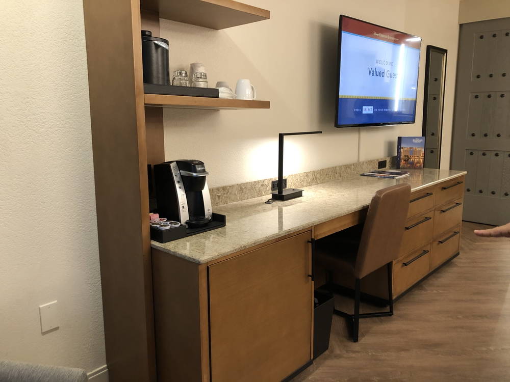 Coronado Springs Resort Preferred Room TV and desk