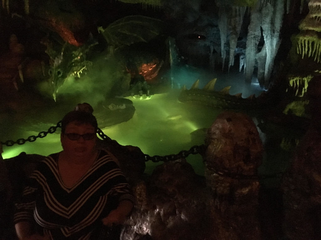 Author visiting the dragon under the castle