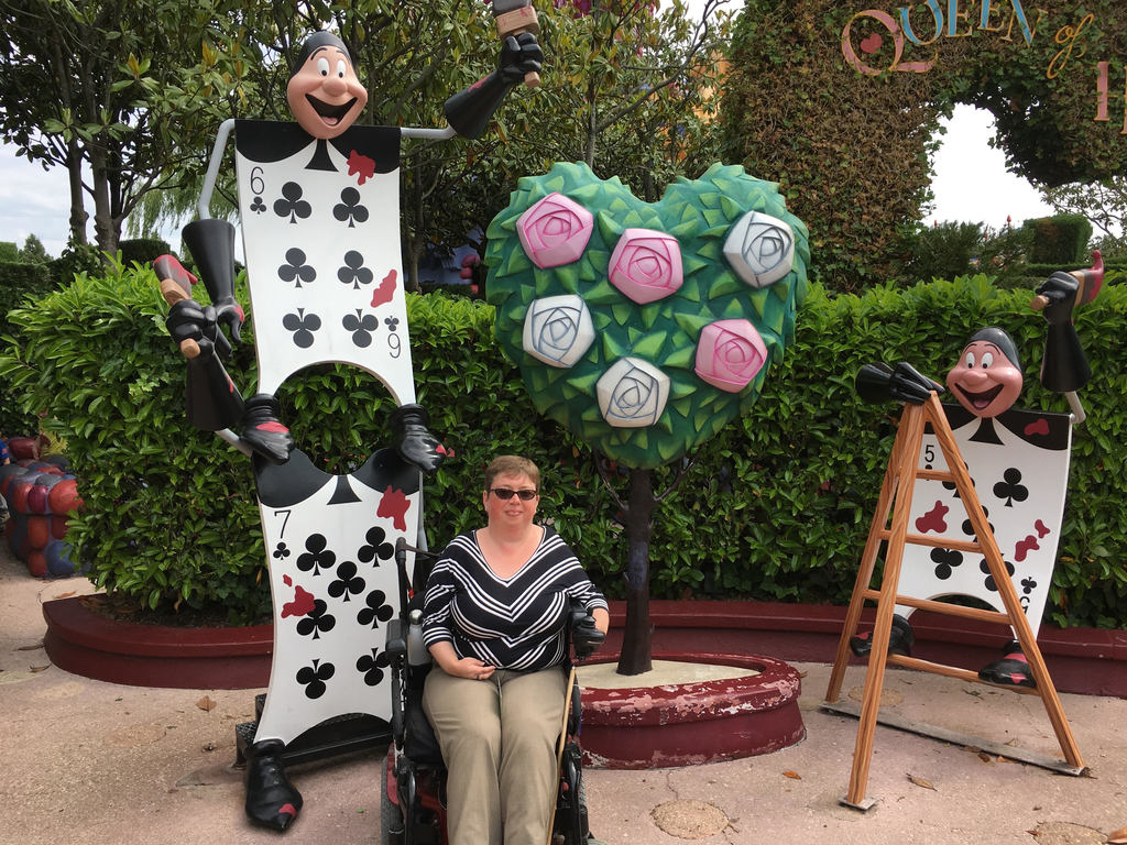 Getting lost in the Red Queen's maze was fully wheelchair accessible