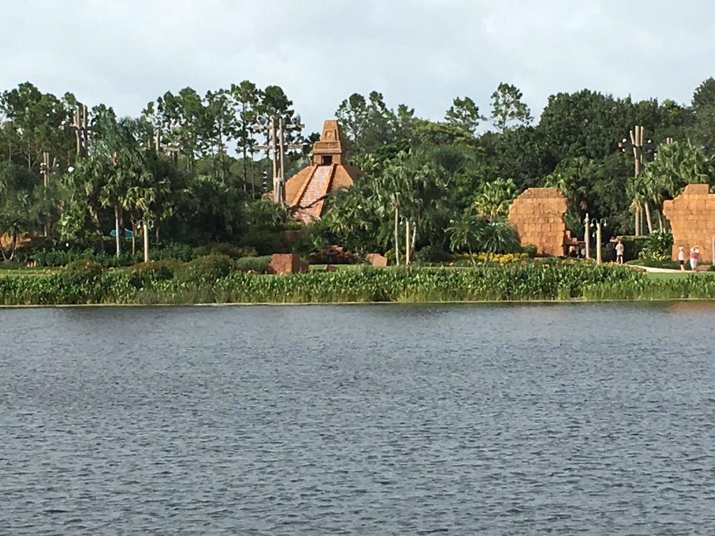 Mayan-style pyramid at Coronado Resort
