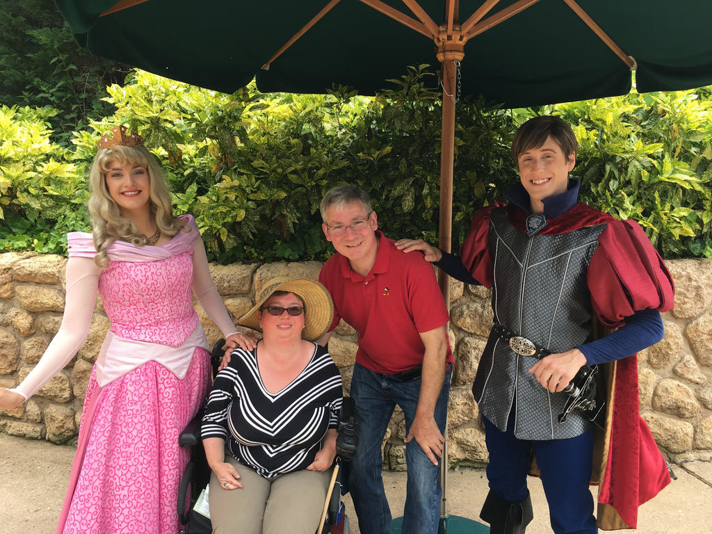Photo of Princess Aurora, Kelly, Richard, and Prince Phillip