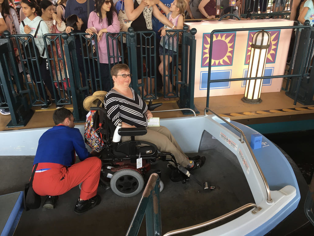 The Small World attraction has a wheelchair accessible boat