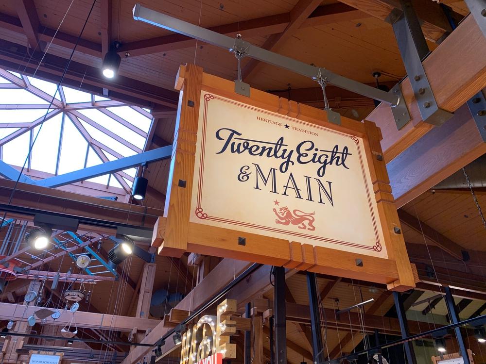Twenty Eight & Main Shop Sign Marketplace Co Op