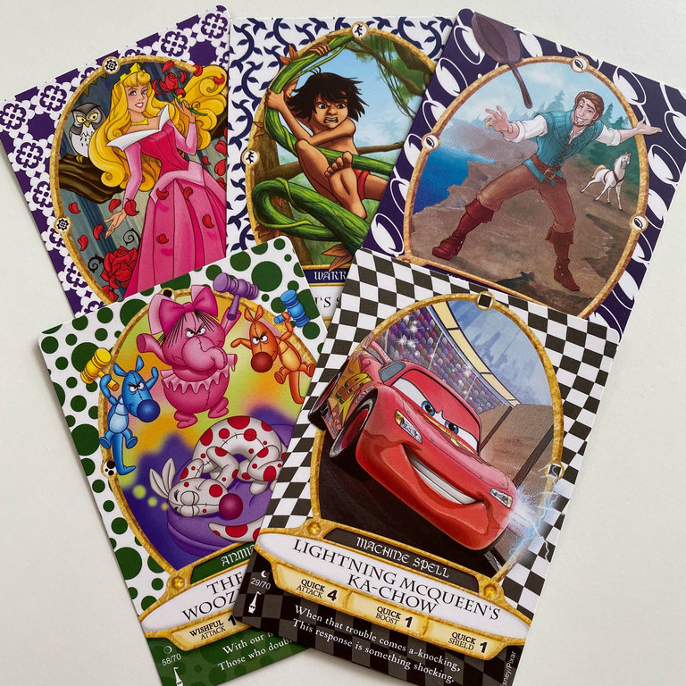 The trading cards are so much fun to collect, and they're not just for kids. Everyone in your party can get a pack.