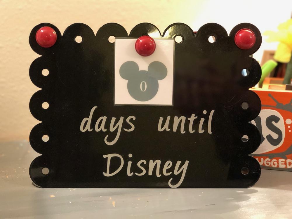Disney Trip Countdown Board