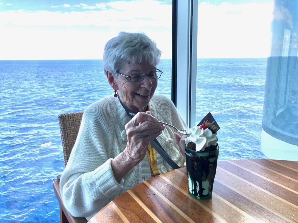 Madeline eating Vanellope's sundae