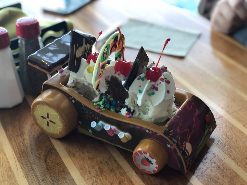 Vanellope's Go-Kart Sundae close up
