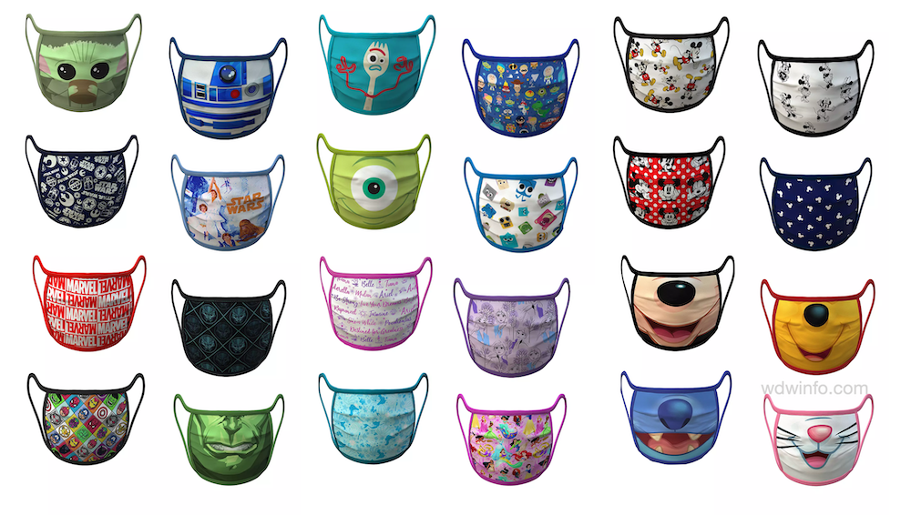 Official Disney Face Mask Designs Make Wearing Them A Bit More Magical