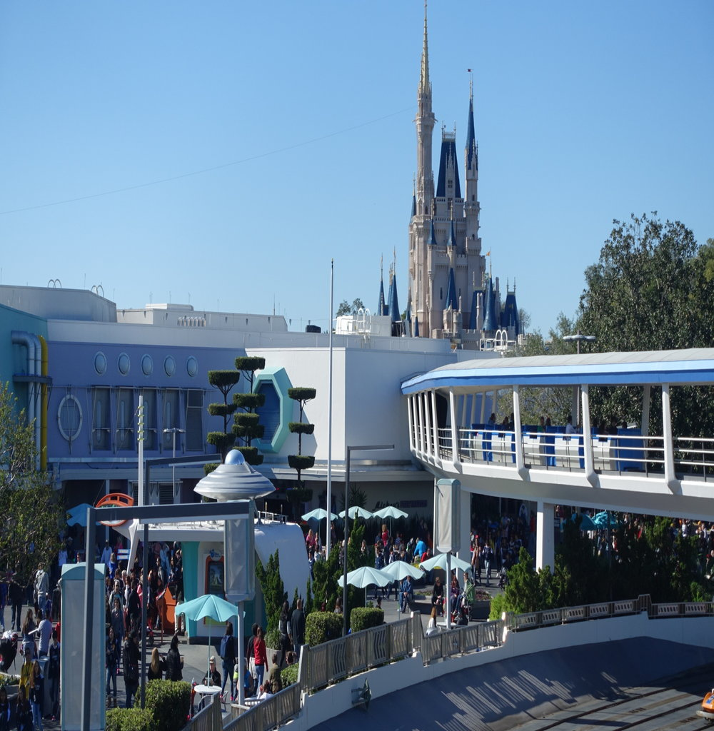 View of Cinderella Castle from Tomorrowland