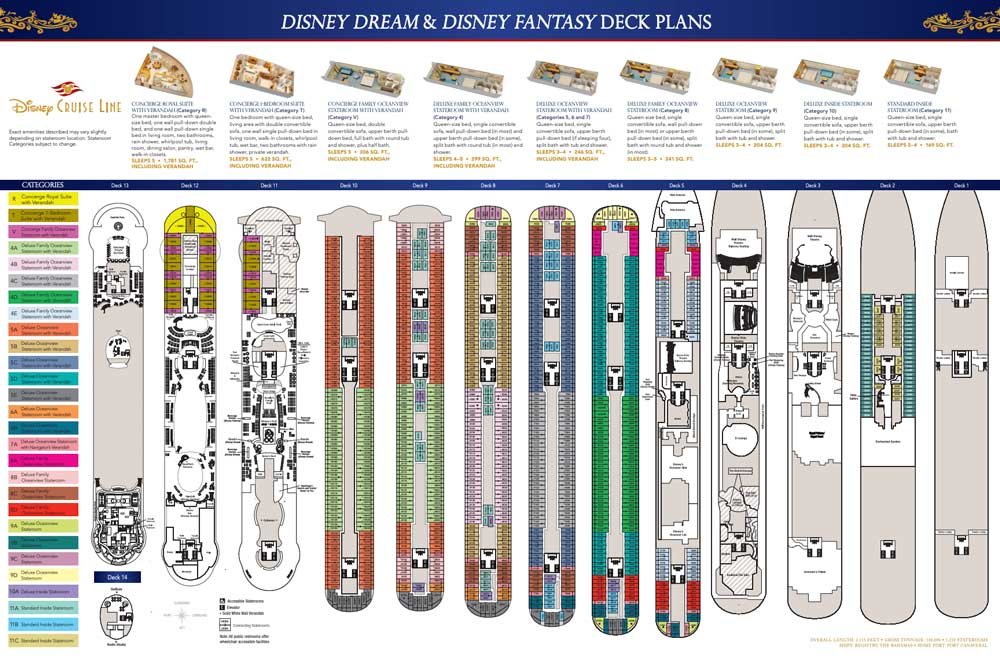 Deck Plans for the Dream and Fantasy