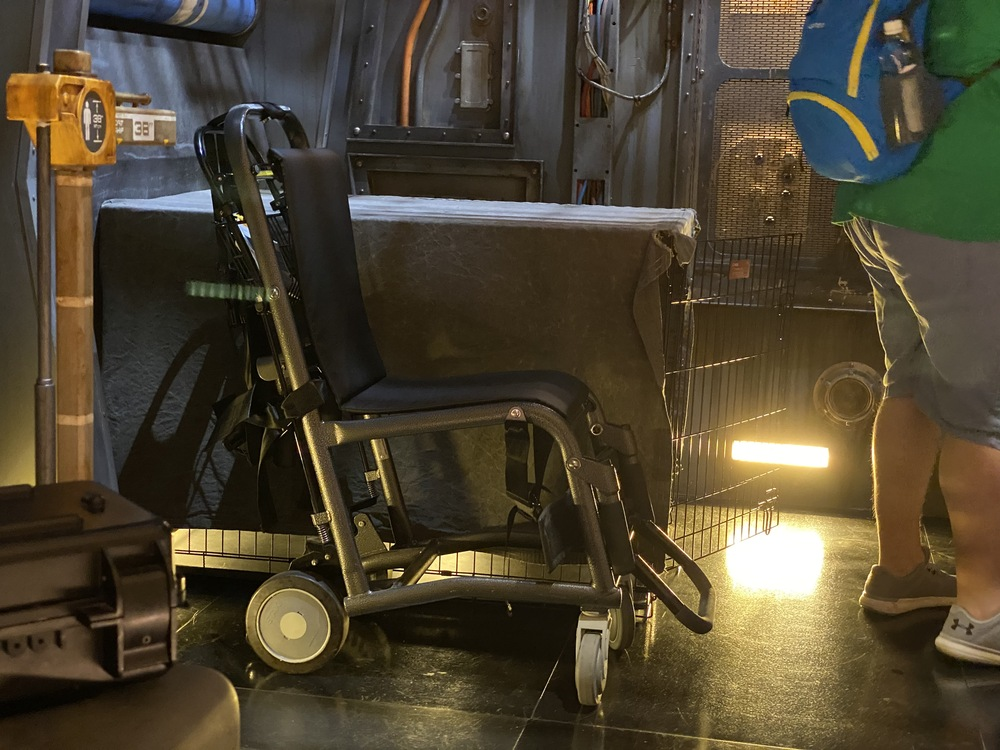 Accessible transfer chair for Smugglers Run