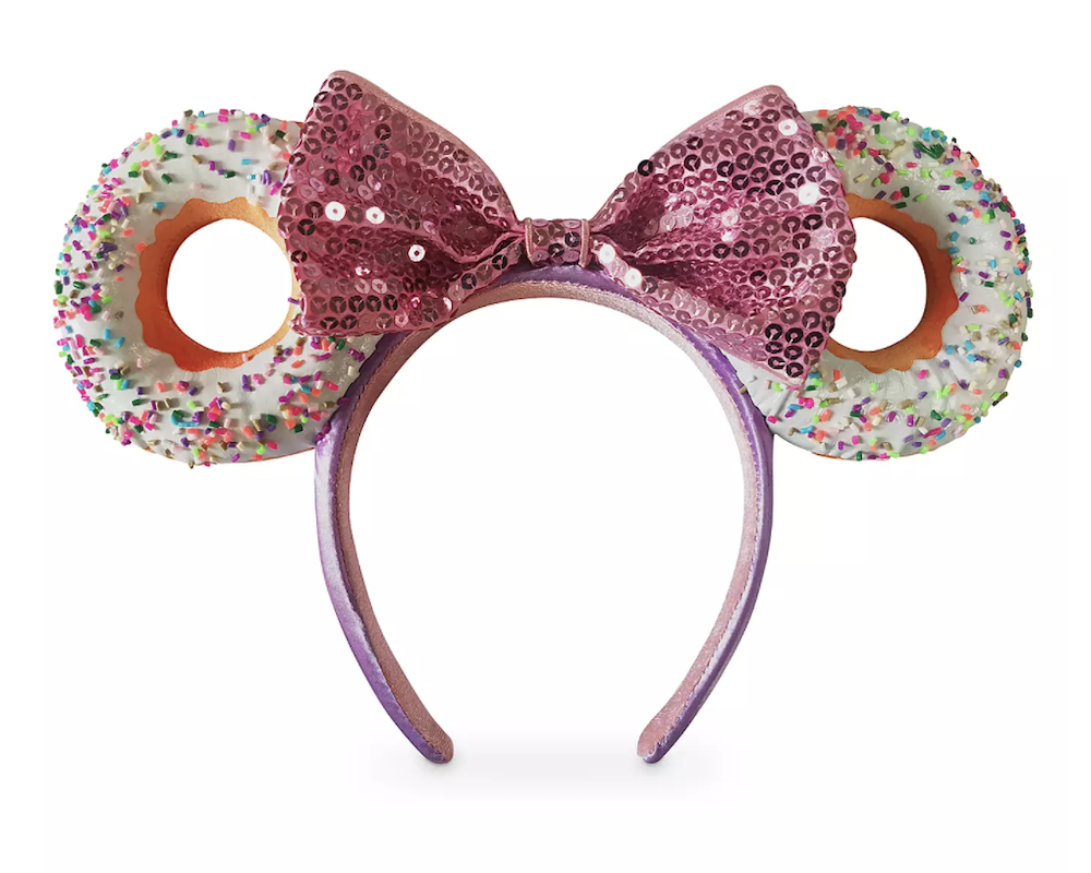 Rhinestone 3D Epcot inspired Ears with Rhinestone Bow OR Sequin bow