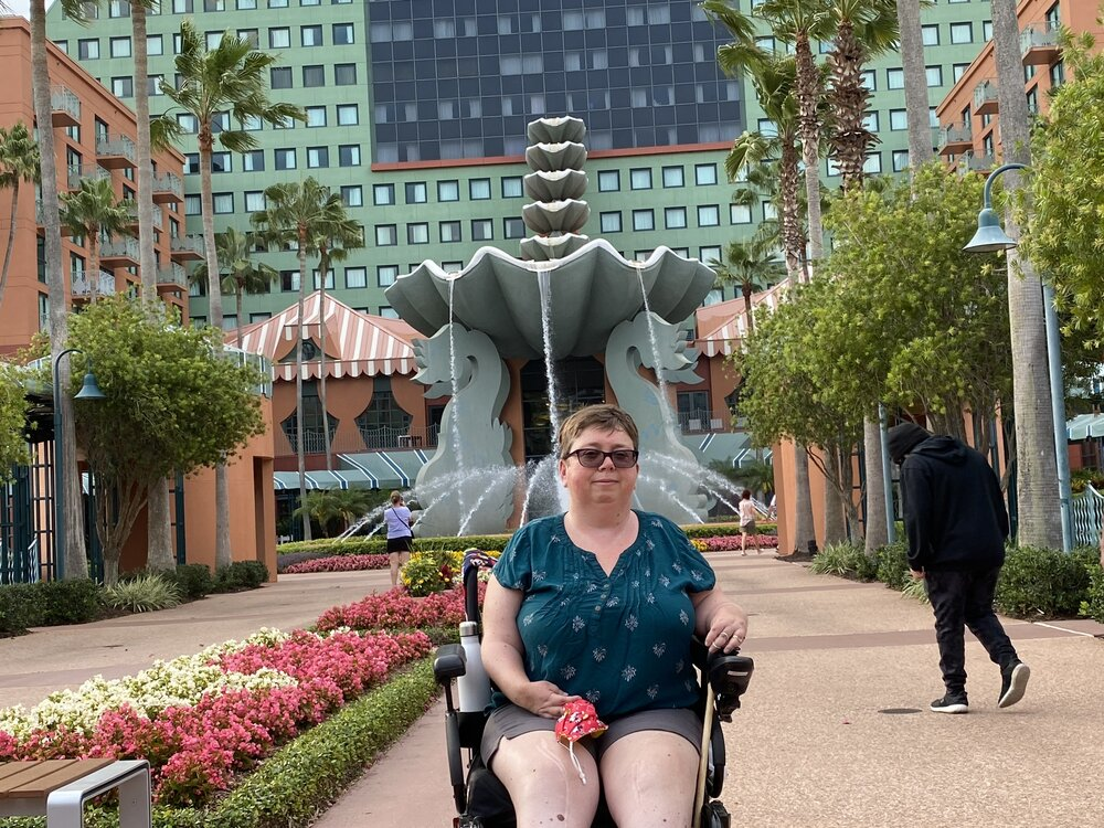 Author at the WDW Dolphin Resort