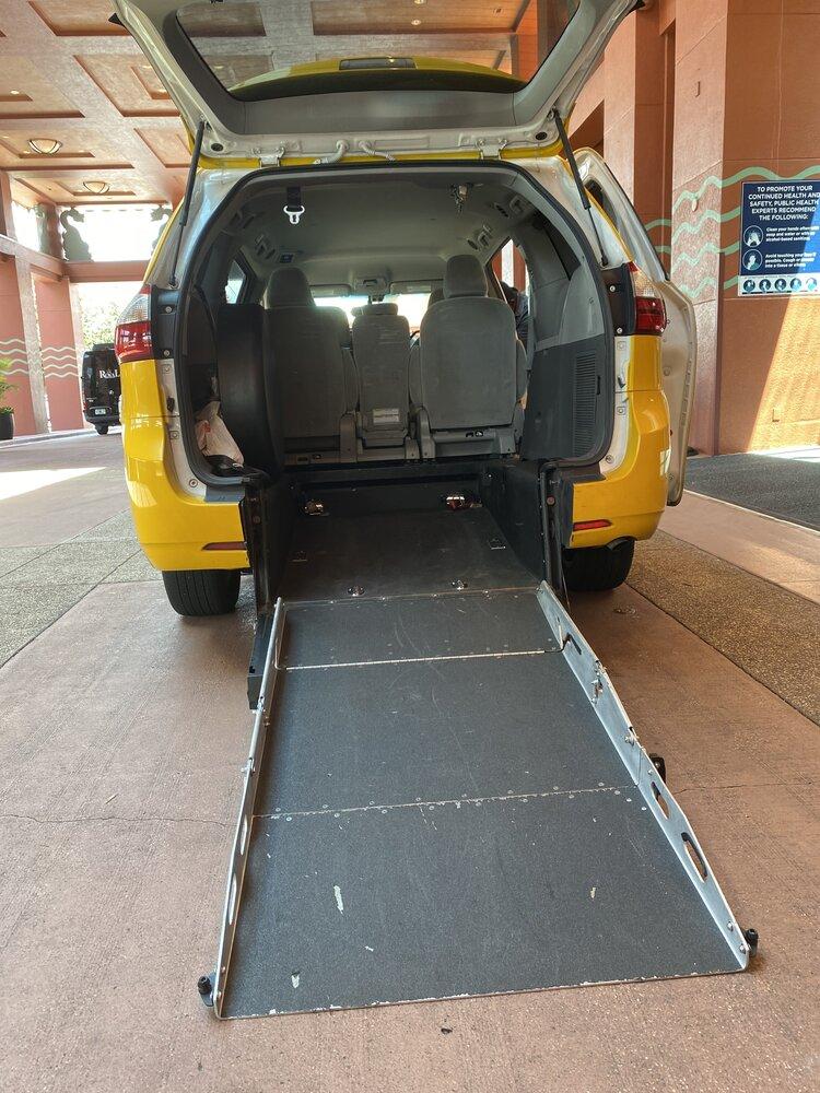 Wheelchair accessible cab